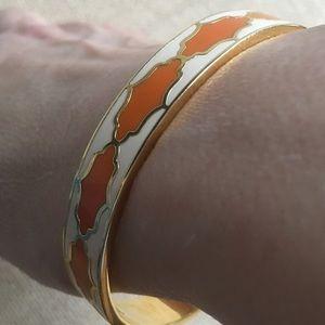 Spartina 449/orange & beige w/ gold metal